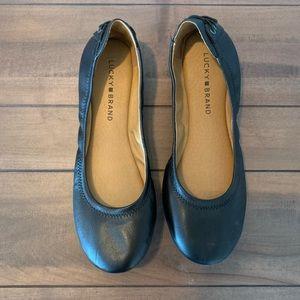 Lucky Brand Black Ballet Flats women's 8.5 8 1/2